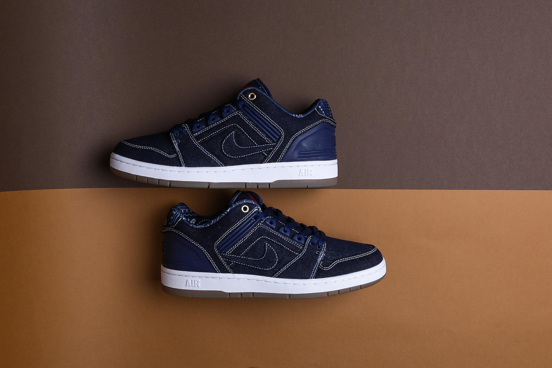 Купить синие мужские кроссовки Air Force II Low QS от Nike