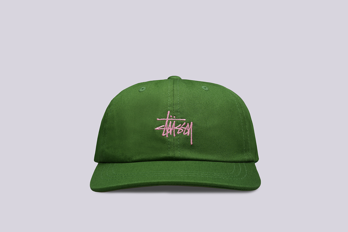зелёная кепка Stussy SP19 Stock Low Pro Cap