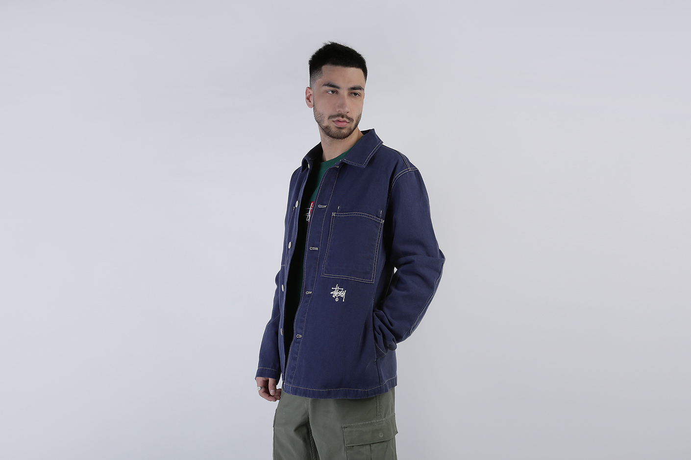 90fe4603f Мужская Куртка Canvas Shop Jacket Stussy (115436-navy)