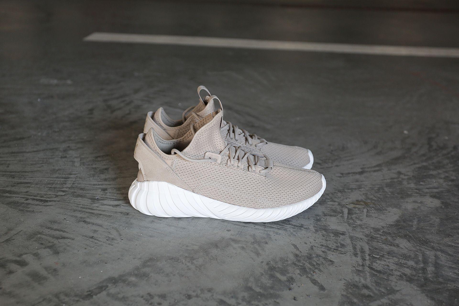 new arrival fe8f7 6b3a9 Купить бежевые мужские кроссовки Tubular Doom Sock от adidas ...