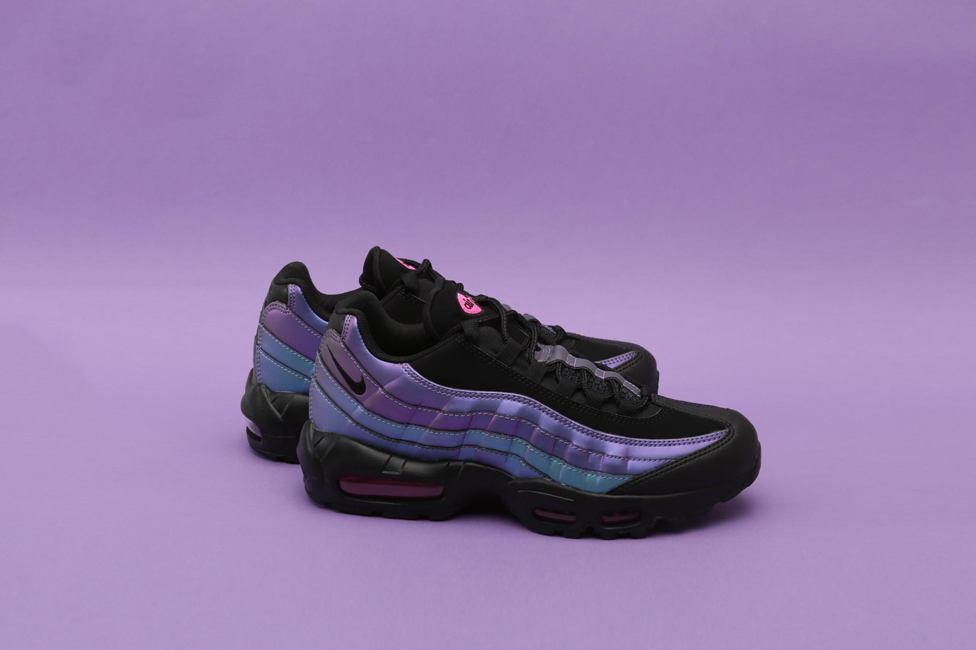 newest fd282 e655a Купить мужские фиолетовые кроссовки Nike Air Max 95 PRM