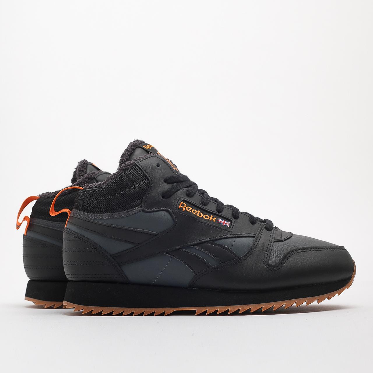 Купить черные мужские кроссовки CL Lthr Mid Ripple от Reebok (FV9309) по цене 9490 рублей