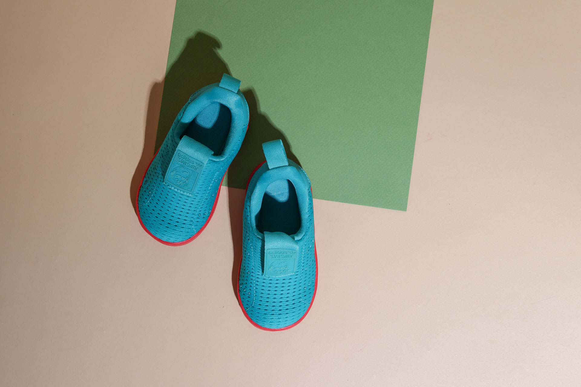 44c738f3 ... Купить детские голуюые кроссовки adidas Originals Stan Smith 360 I -  фото 2 картинки ...