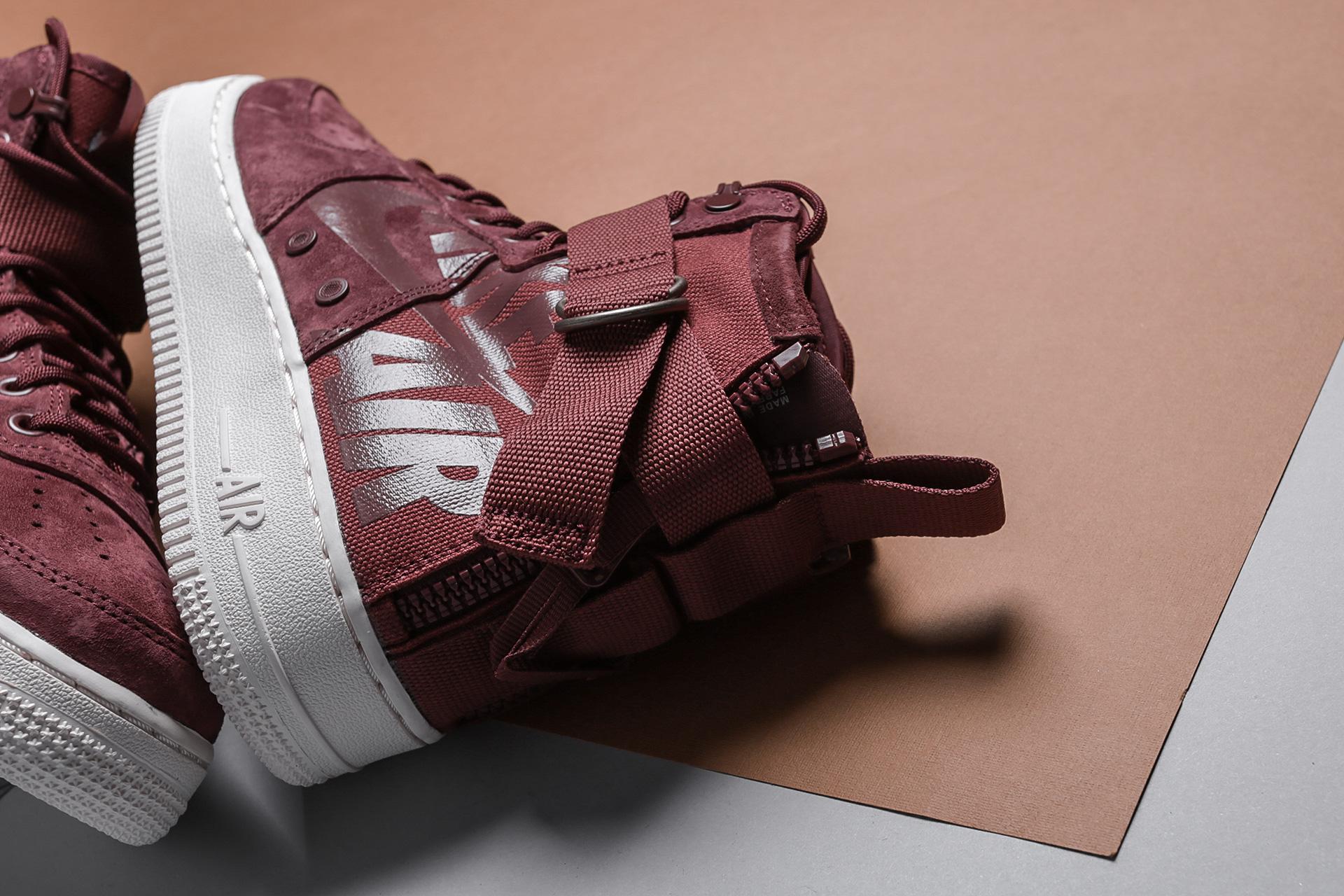aa1ee4164b1c ... Купить мужские коричневые кроссовки Nike SF Air Force 1 Mid - фото 3  картинки ...