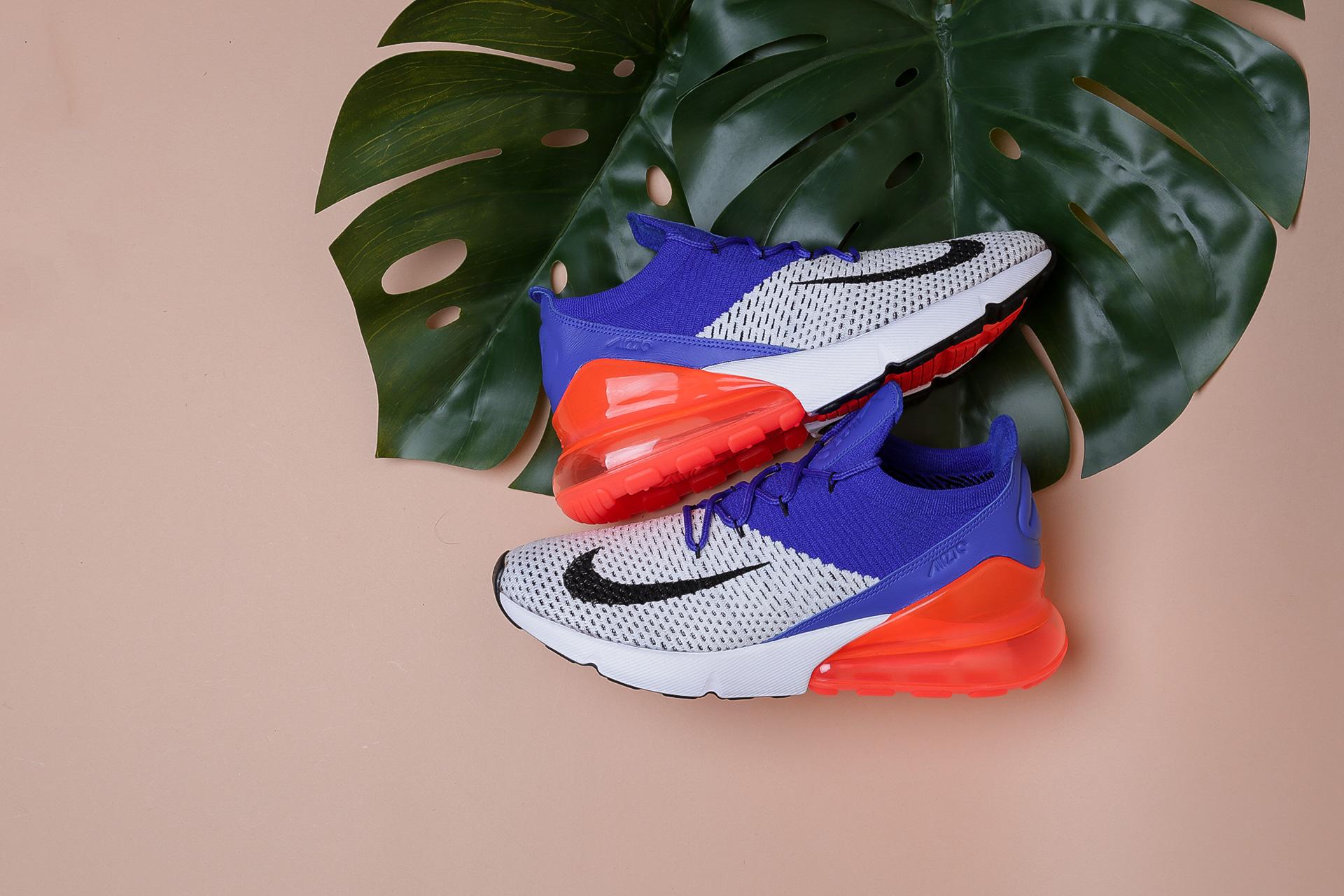 ca4a7cb5 Купить синие мужские кроссовки AIR Max 270 Flyknit от Nike (AO1023 ...