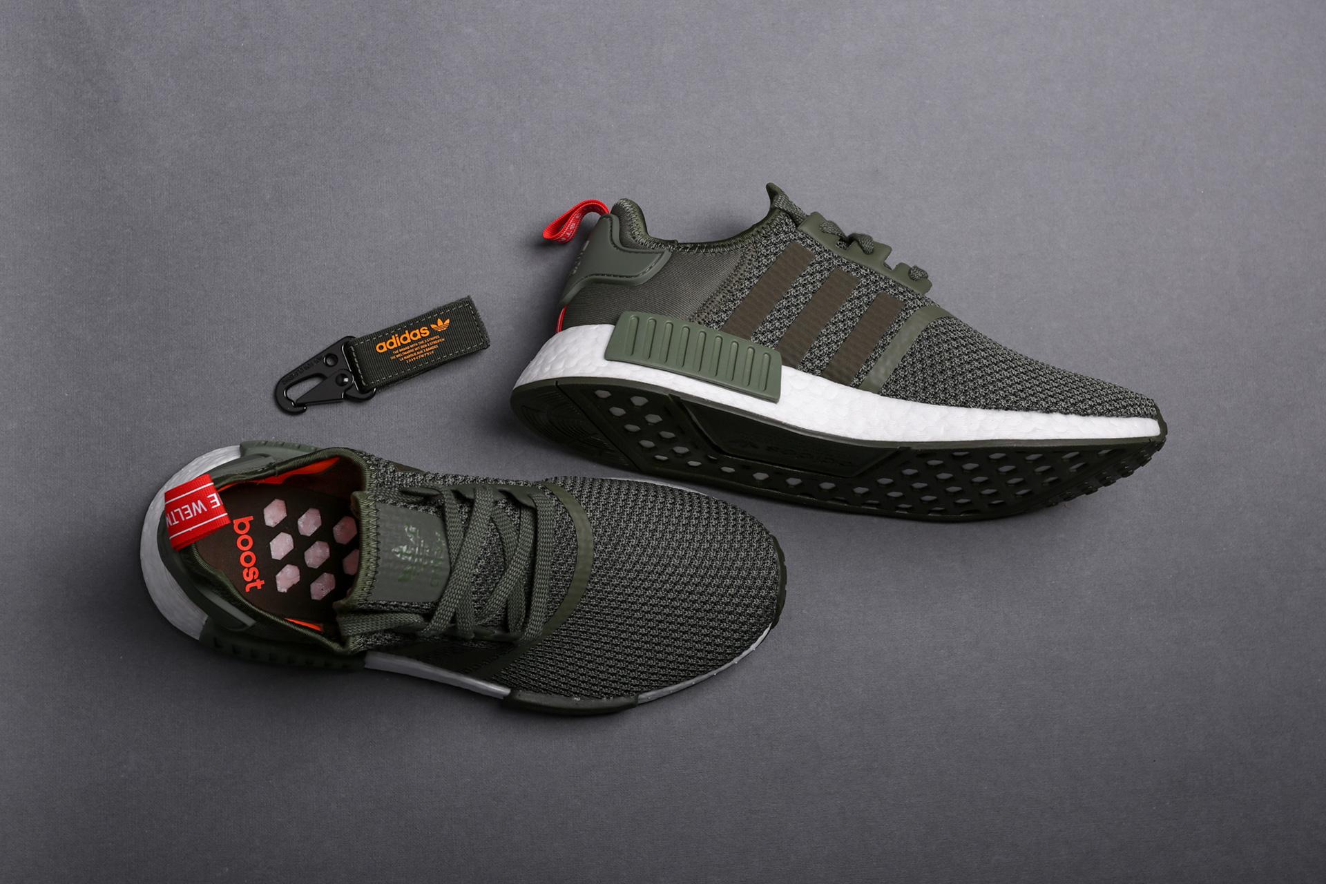 Купить зеленые мужские кроссовки NMD R1 от adidas Originals (B37620 ... 9730cd68c70