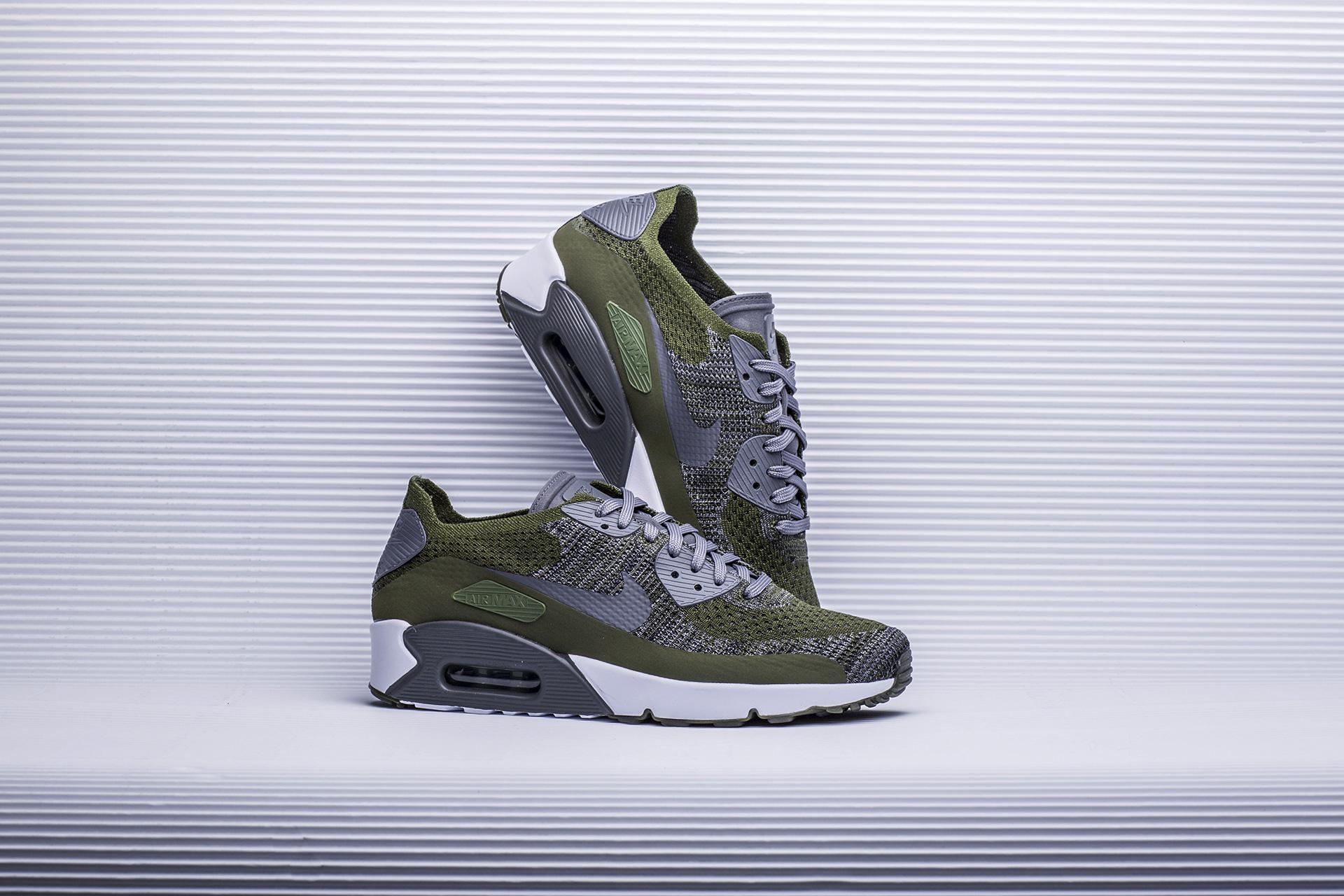 c0607740 Купить зеленые мужские кроссовки Air Max 90 Ultra 2.0 Flyknit от ...