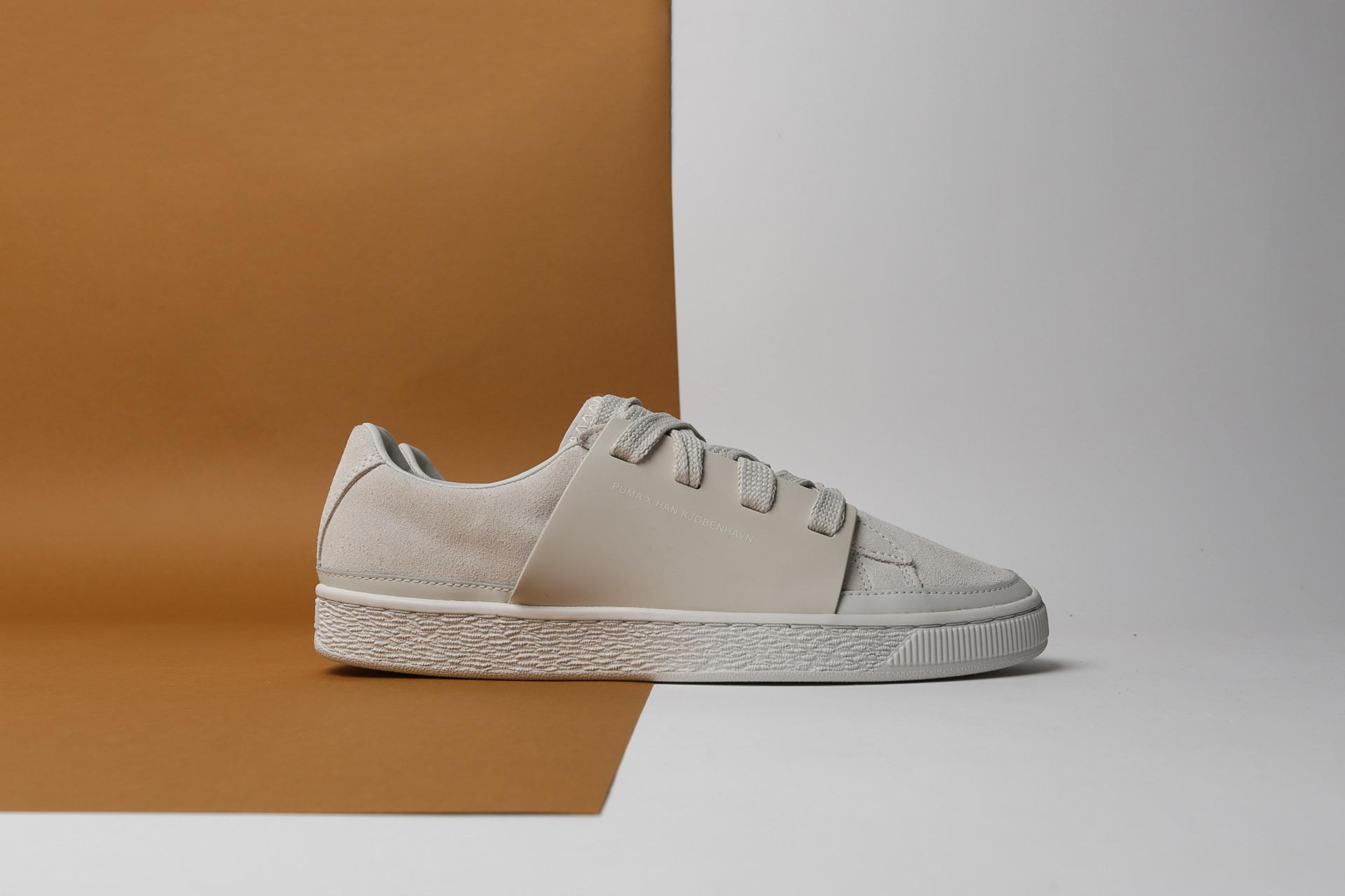 Купить мужские бежевые кроссовки Puma Suede HAN a8f147b6ce0