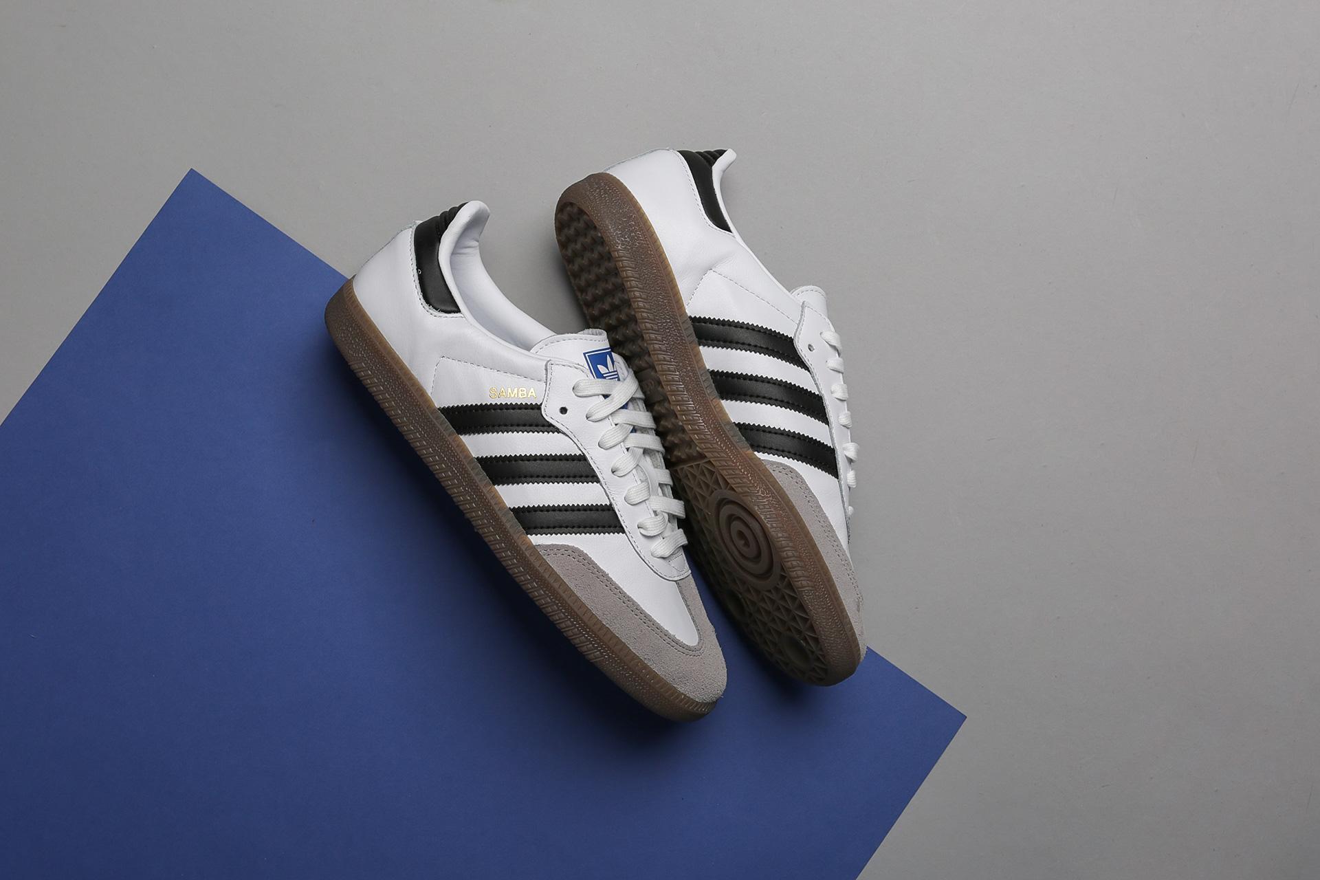 af4a88a7 Купить белые мужские кроссовки Samba OG от adidas Originals (B75806 ...