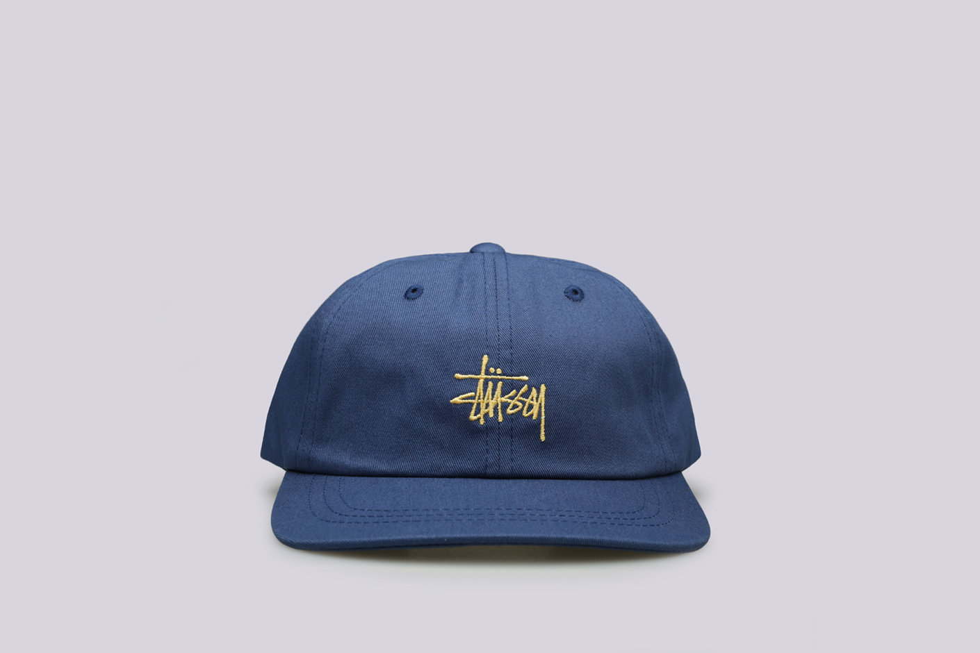 синяя кепка Stussy SP19 Stock Low Pro Cap