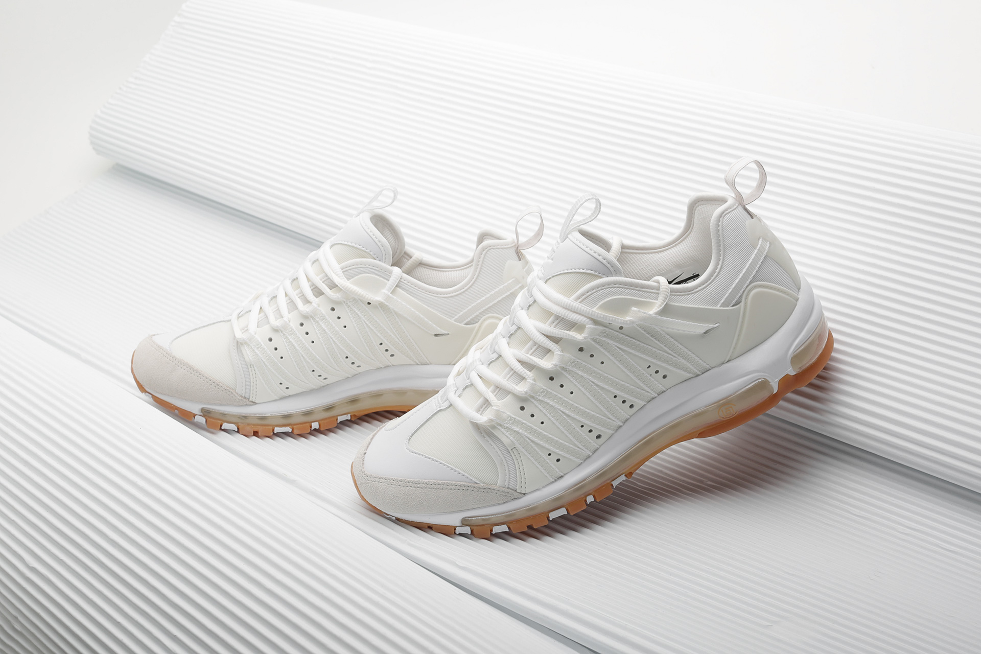 5beaa155 ... Купить мужские белые кроссовки Nike Air Max 97 / Haven / Clot - фото 5  картинки ...
