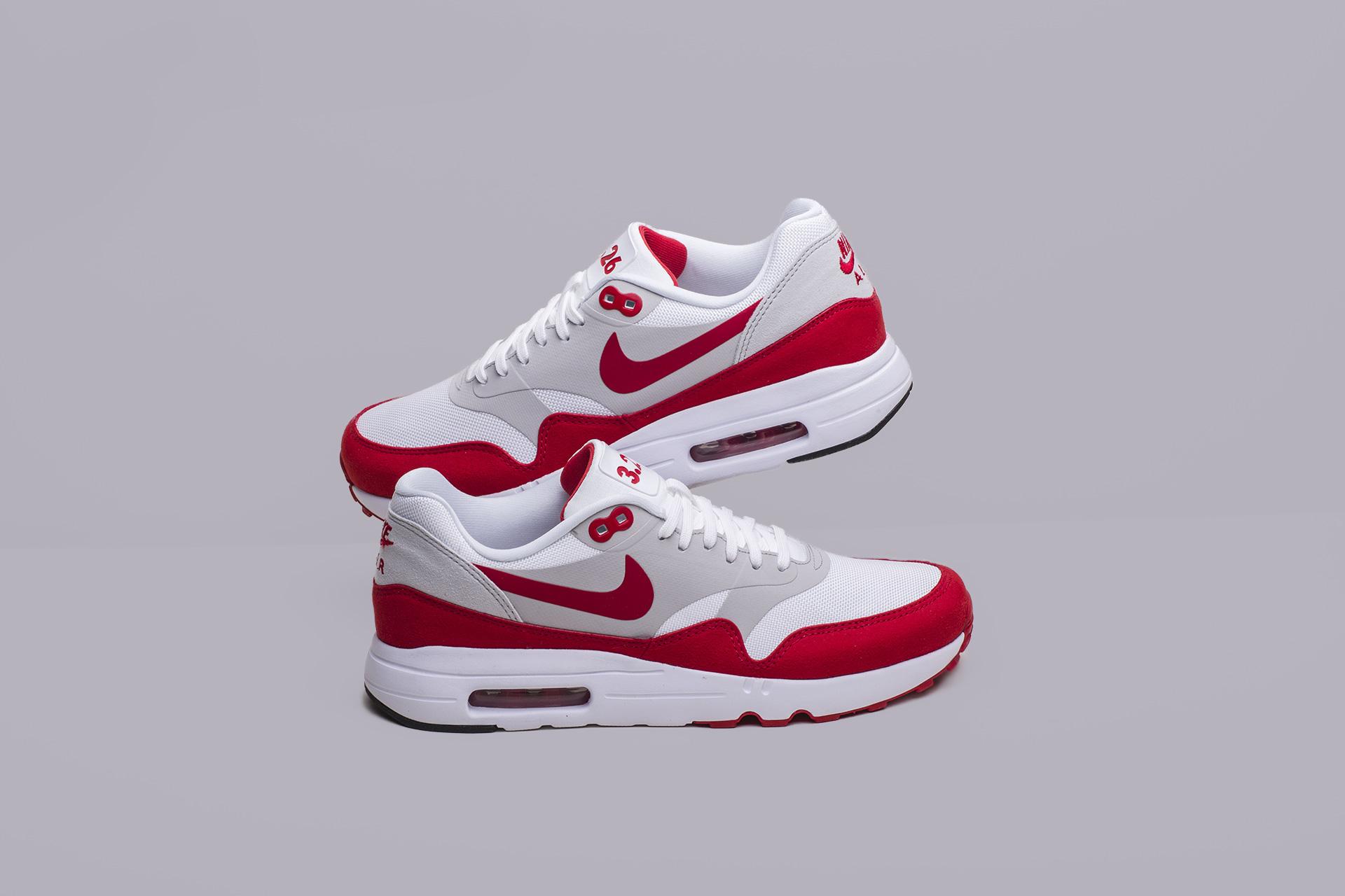 dd0868bf Купить белый красныые мужские кроссовки Air Max 1 Ultra 2.0 LE от ...