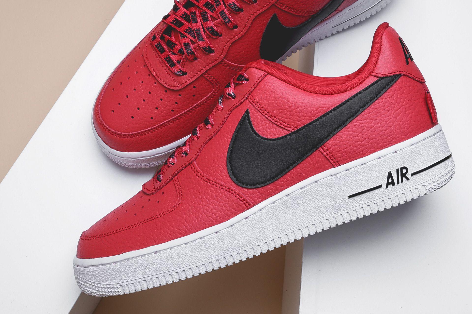 7514c982 ... Купить мужские красные кроссовки Nike Air Force 1 '07 LV8 - фото 4  картинки ...