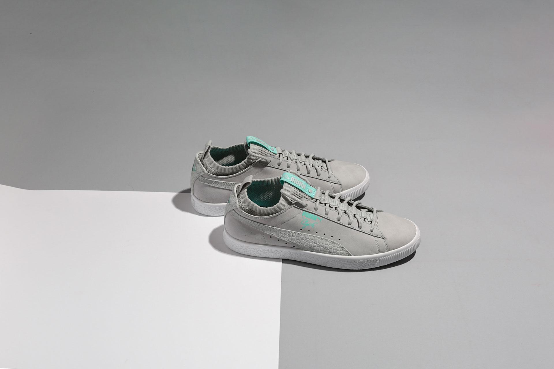 f195ef018a24 Купить серые мужские кроссовки Clyde Sock Lo Diamond от Puma ...
