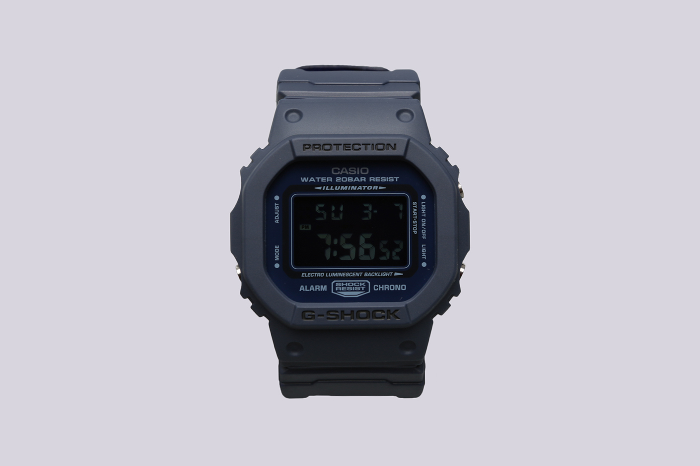 синие часы Casio G-Shock DW-5600LU