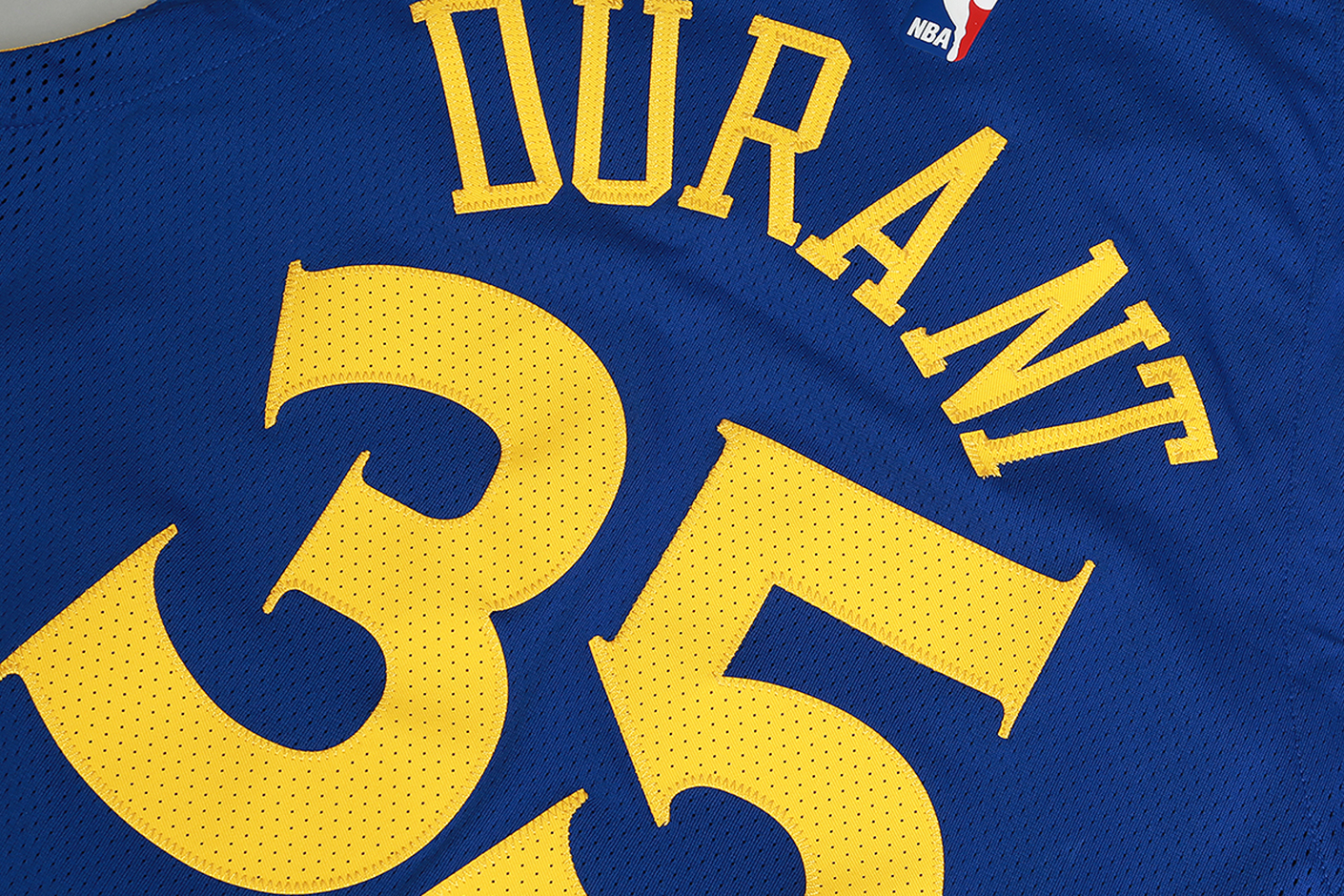 1055c7c7192 ... Мужская синяя майка Nike Kevin Durant Icon Edition Authentic Golden  State Warriors NBA Connected Jersey -