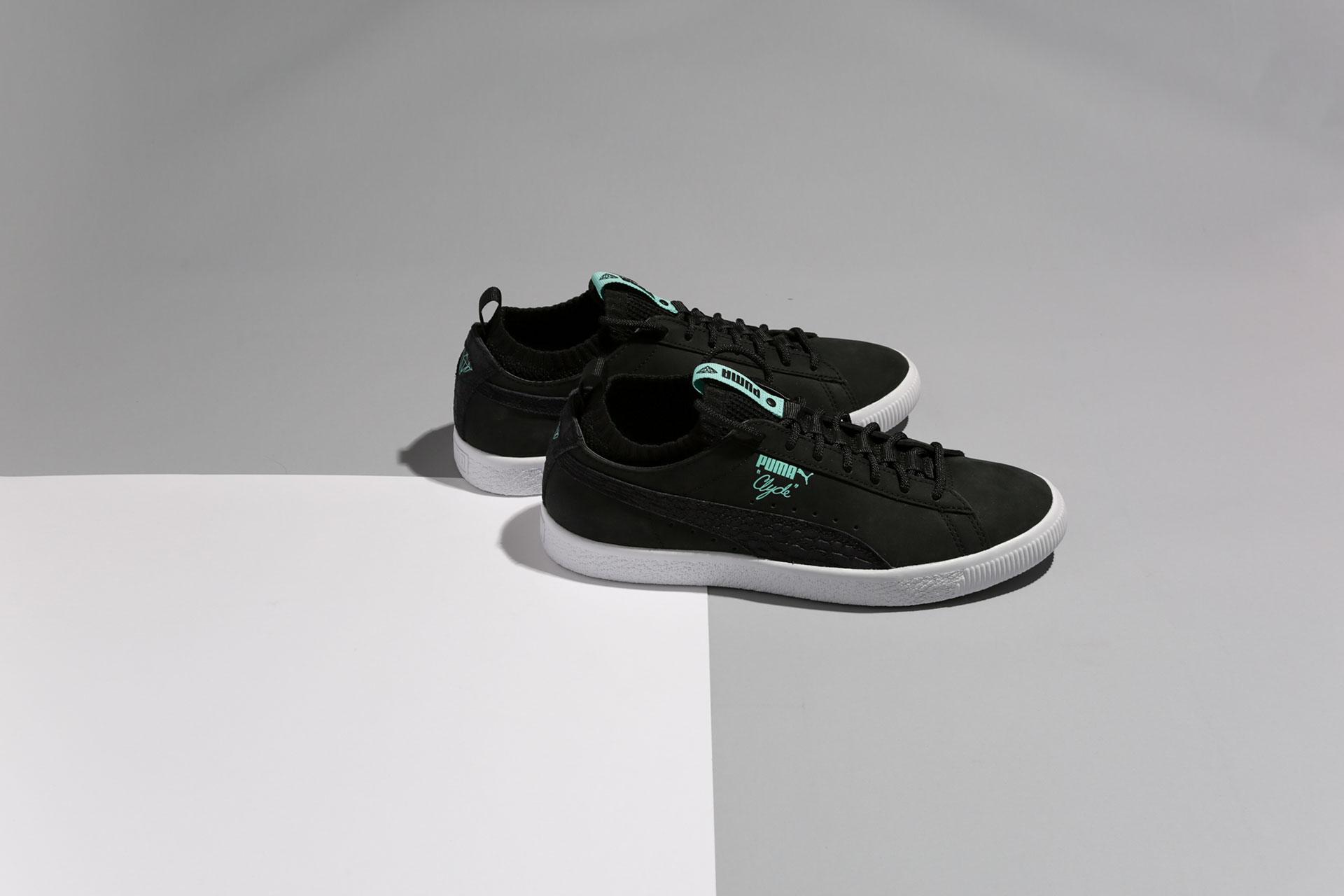 Купить мужские черные кроссовки Puma Clyde Sock Lo Diamond 911e06729a5