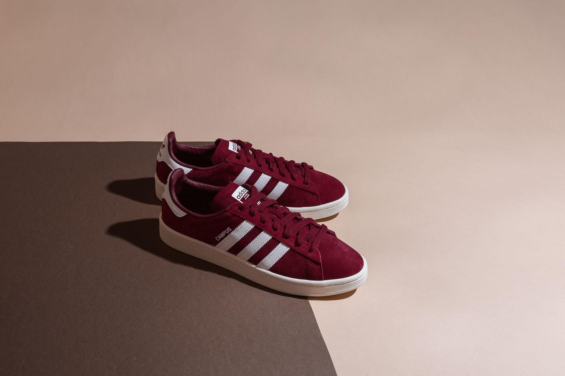 3897321ac50ee0 Купить бордовые мужские кроссовки Campus от adidas Originals (BZ0087 ...