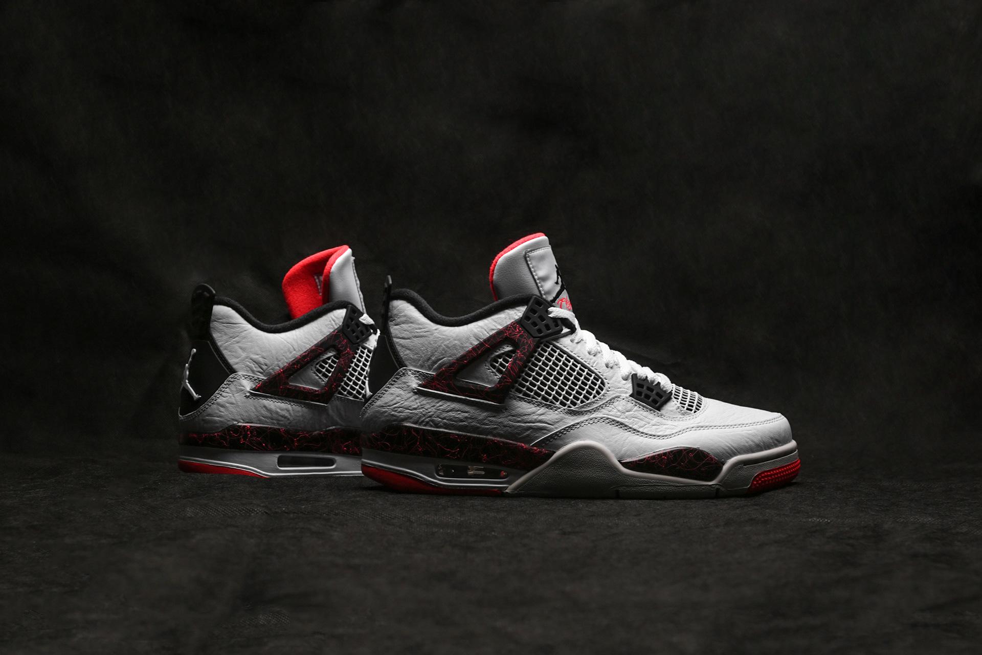 fcf58814 Купить белые мужские кроссовки 4 Retro от Jordan (308497-116) по ...