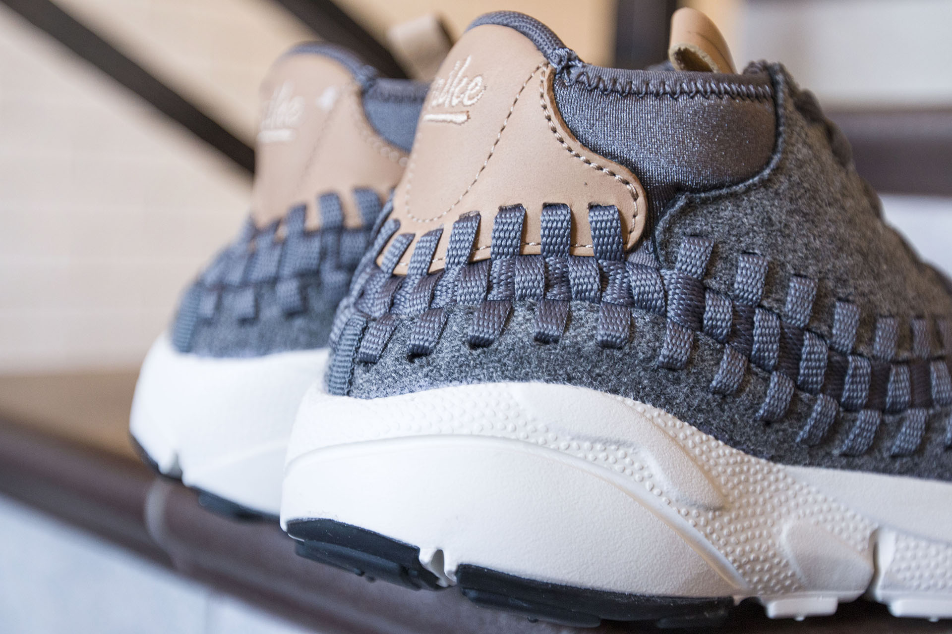 sports shoes 1bb4e 32dc0 ... Купить мужские серые кроссовки Nike Air Footscape Woven Chukka SE - фото  2 картинки ...