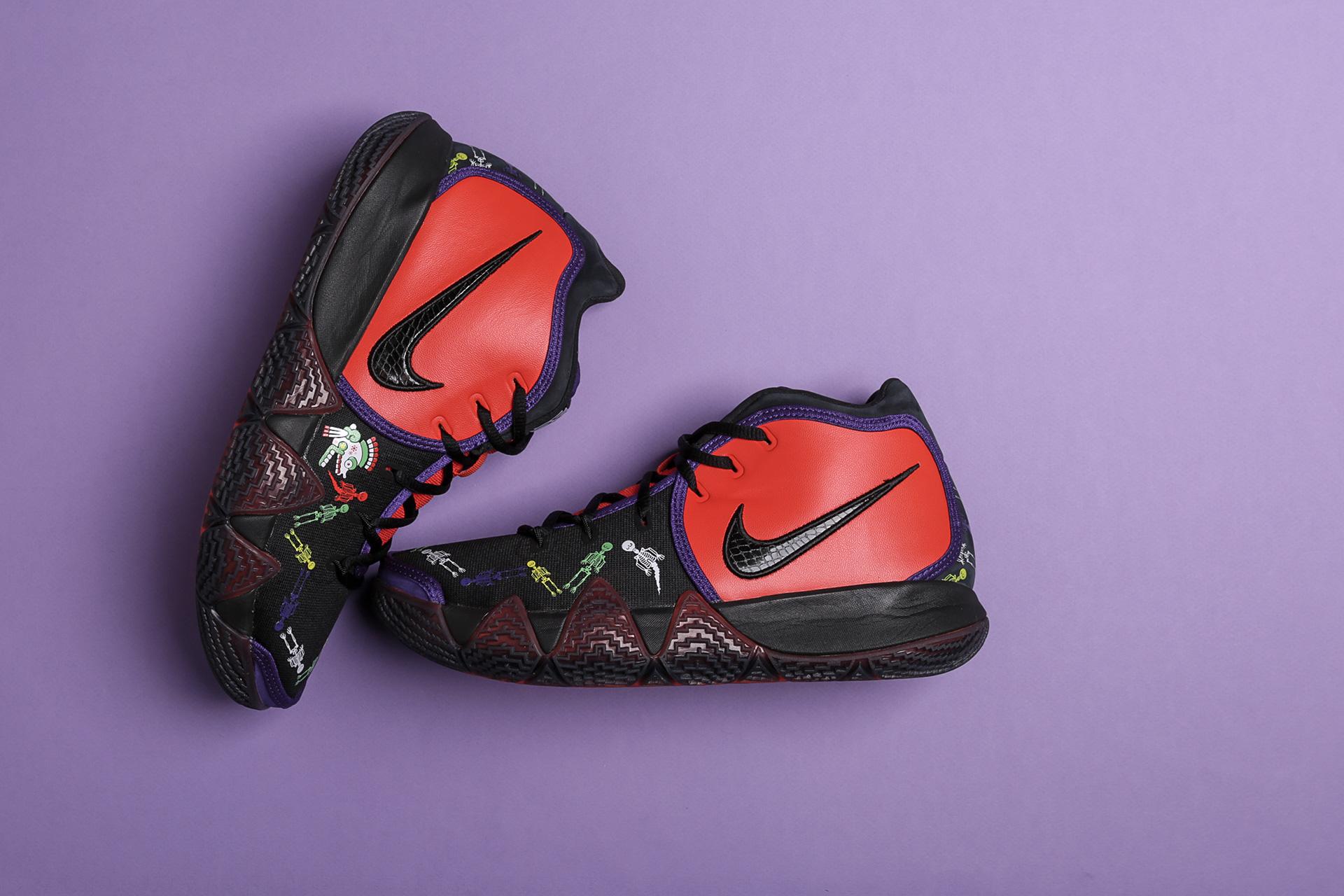 c6b0bddd6023 Купить черные мужские кроссовки Kyrie 4 DOTD TV PE 1 от Nike (CI0278 ...