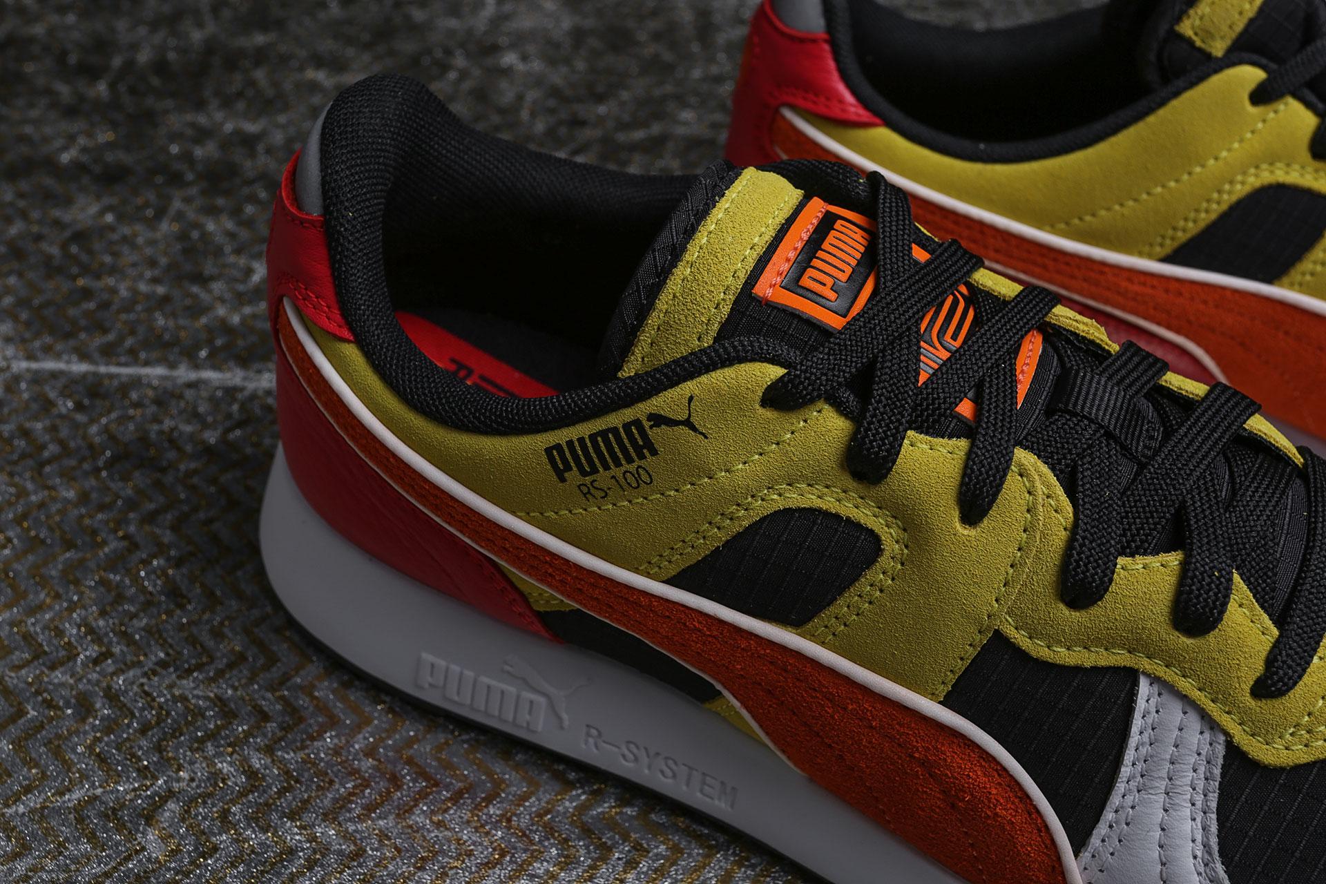 ... Купить мужские мультиколые кроссовки Puma RS-100 x Roland - фото 3  картинки ... 843595681f5e5