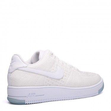 76596260c4967 Купить белые женские кроссовки WMNS Air Force 1 Flyknit Low от Nike ...